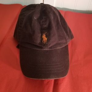 769c430caca Polo by RL Brown w Orange Logo Adjustable Hat